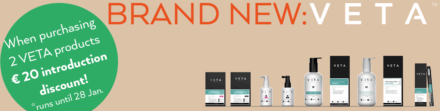 New: Veta. When purchasing 2 VETA products 20 euro discount